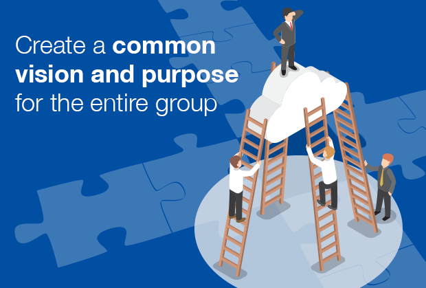 Create a common vision and purpose for the entire group
